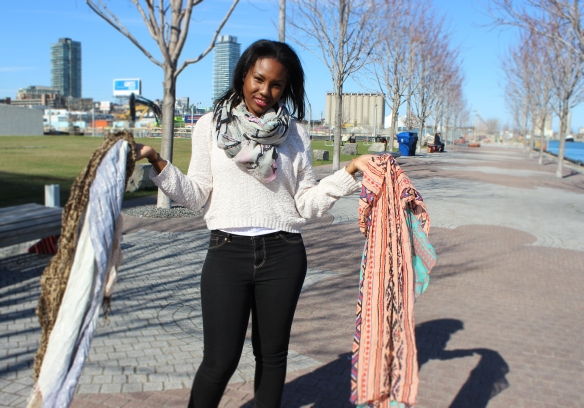 How to Style your scarf