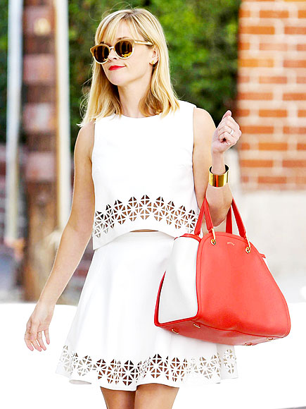 All White Matching Set Reese Witherspoon