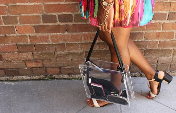 DIY clear tote purse bag 2